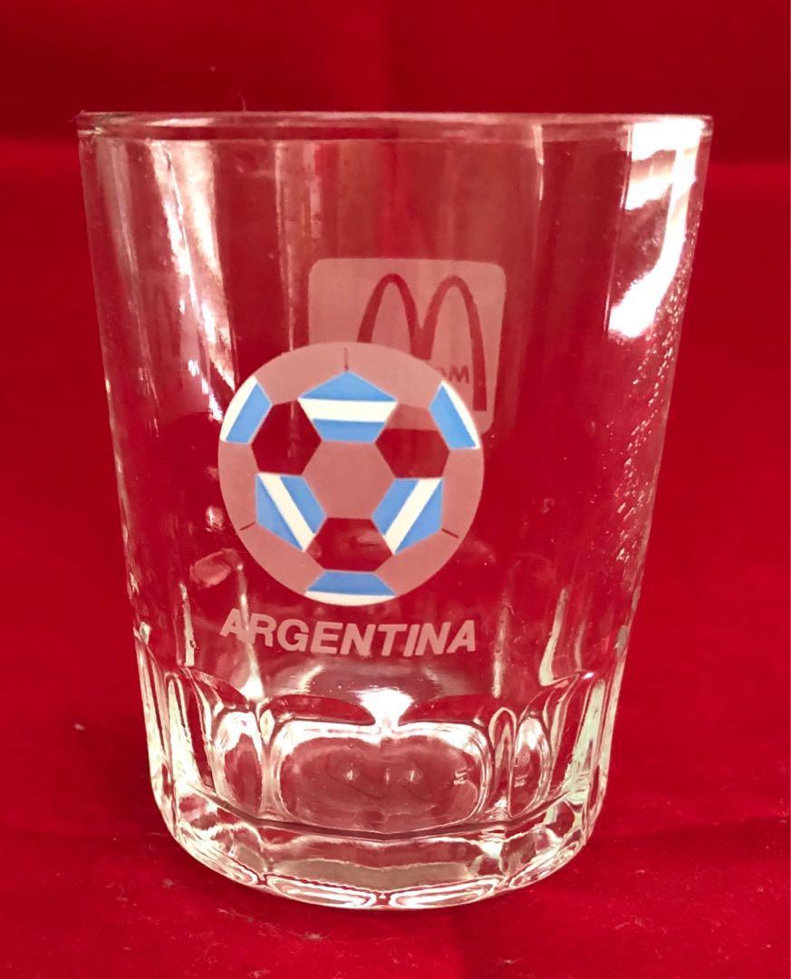 1986 世界盃-阿根廷隊, 麥當勞紀念品,水杯一隻, 3吋半高.