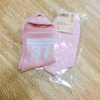 🚚 韓棒球少女棒球襪+日本粉棉短襪#半價衣服拍賣會