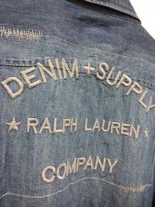 🔥DENIM & SUPPLY Ralph Laurn 牛仔襯衫 刷色 上衣 休閒 百搭 稀有 老品 古著 復古 Vintage