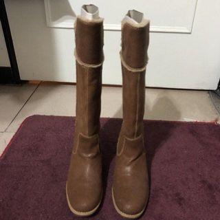 Timberland 復古咖啡色長筒馬靴