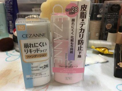 Cezanne foundation 粉底 及 控油 make up base 妝前底霜