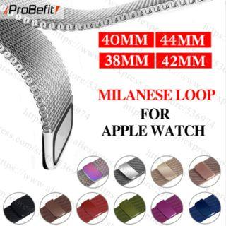 🚚 Milanese Loop Bracelet Stainless Steel band For Apple Watch series 1/2/3 42mm 38mm Bracelet strap for iwatch series 4 40mm 44mm