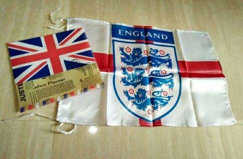 Bendera Timnas Inggris the 3 Lion
