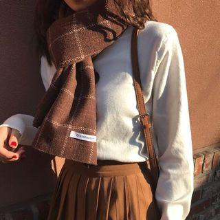 復古格紋圍巾#五折清衣櫃