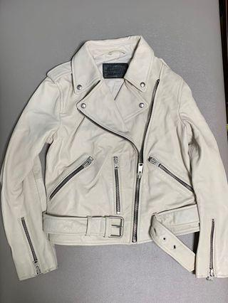 英國 Allsaints Balfern Biker Jacket 小羊皮褸