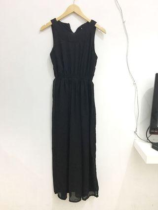 Black dress chiffon