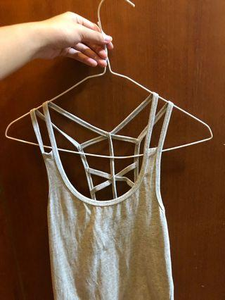 🚚 strappy grey camisole