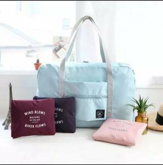 <包平郵現貨> 旅行 飛機袋 旅行袋 折叠便携行李包