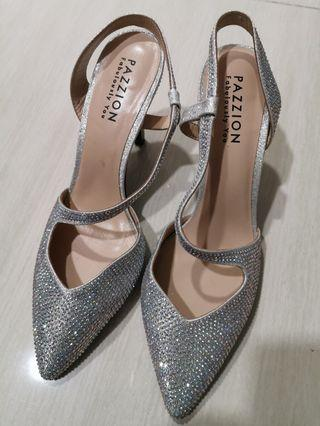 🚚 Pazzion bling glitter heels for bridesmaid brides or special occasions!!
