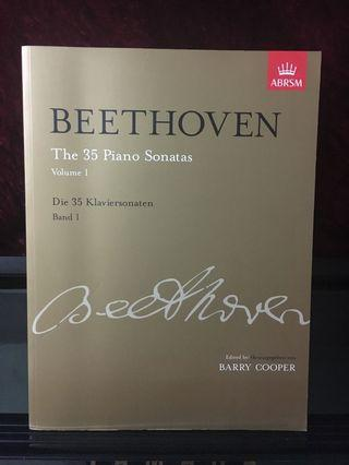 Beethoven 貝多芬 The 35 Piano Sonatas Volume 1 Die 35 Klaviersonaten Band 1 琴譜