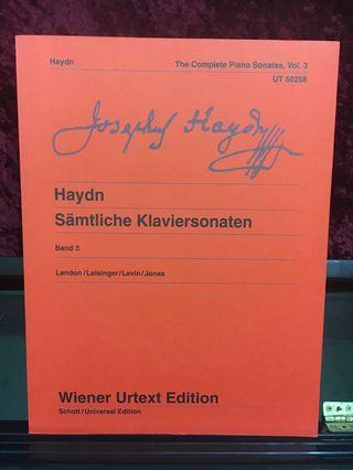 Haydn The complete piano sonatas vol 3 UT 50258