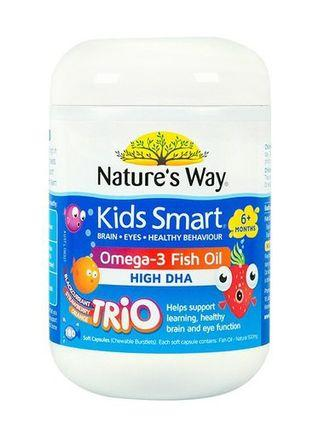NATURE'S WAY 兒童魚油180粒 KIDS SMART OMEGA-3 FISH OIL HIGH DHA