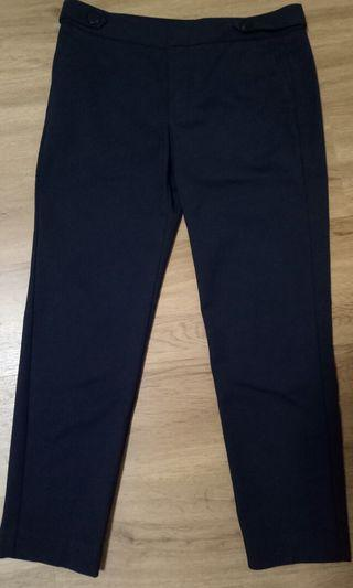 Mango navy blue straight trousers (woman)