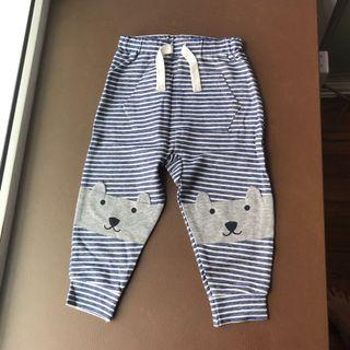 🚚 BNWT Seed Heritage Baby Blue/White Striped Bear Pants