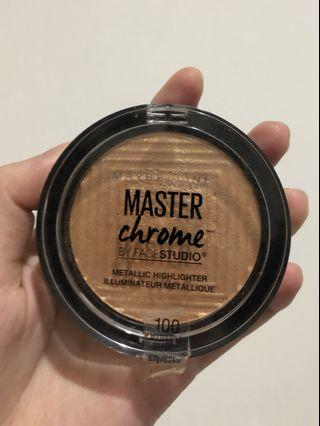 90% Maybelline Master Chrome Highlighter 100 - Molten Gold