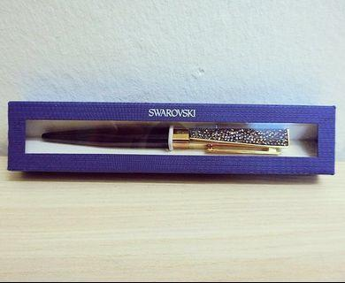 Swarovski Pen - Black Crystal Rocks (Ball Pen)
