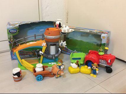 PL Bundle Disneystore Mickey's Tractor & Mickey's Diary Farm
