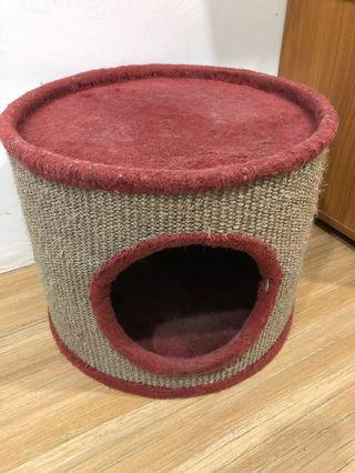 Pet Cat Fabric House & Scratching Post