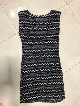 MDS native stripe dress