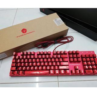 ThundeRobot Red K75R 104 Keys Mechanical Keyboard (New) #EST50