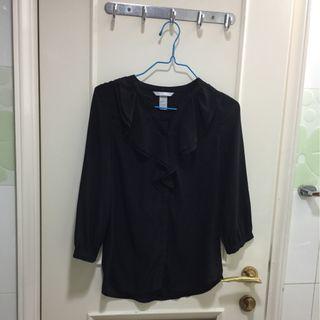 H&M黑色透氣上衣