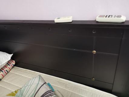 Wooden Queen size Mattress and ved frame