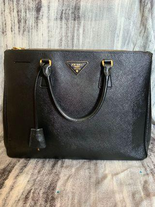 6a5d419c24f9 Fast Deal Prada Black Saffiano Lux Leather