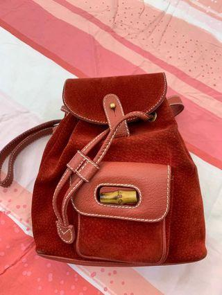 6ee3e421e951 Gucci Bamboo Mini Suede Backpack