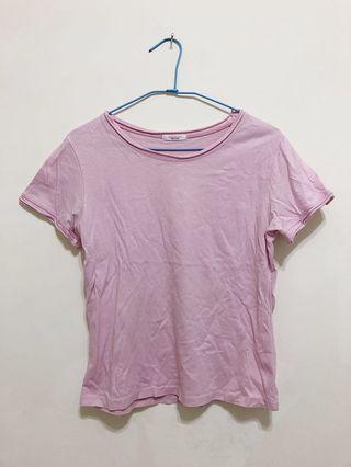 🚚 粉紫色短版上衣