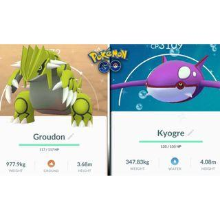 SHINY GROUDON / KYOGRE Pokemon Go
