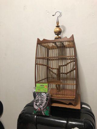 Brown bird cage with FREE cloth