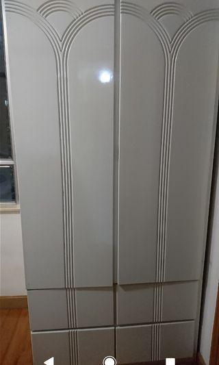 雙門衣櫃連雙人床架