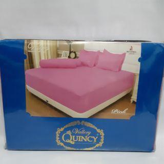 Sprei Vallery Quincy warna Pink ukuran Single 120x200
