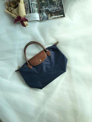 Authentic Longchamp Le Pliage Mini Travel Tote (Dark Blue)