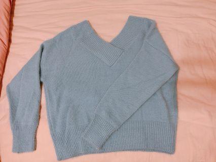 🚚 水藍色毛衣