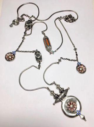 印度品牌代購雙層銀鏈silver necklace from India