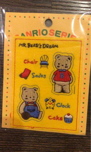 Sanrio mr bear bear's dream 布章