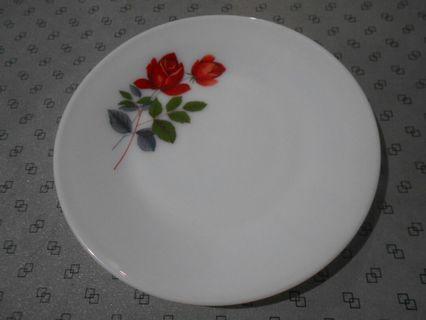 🚚 Vintage June Rose Medium Flat Plate