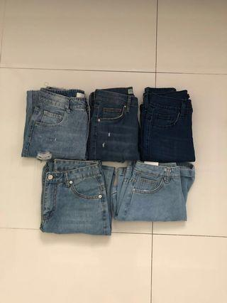 Chic Highwaisted Jeans/Shorts