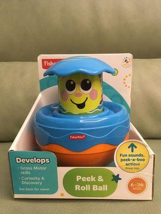 🚚 fisher price peek and roll ball
