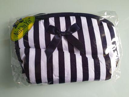 🚚 Naraya Cosmetic Pouch/Bag New Blue stripes