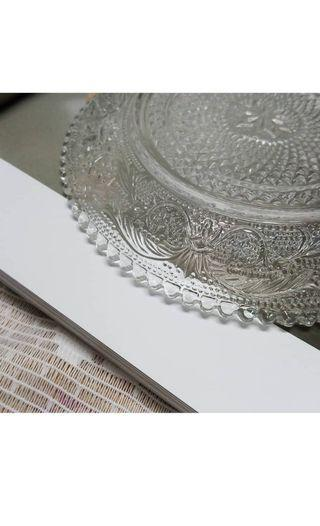 水果盤+水果碗 玻璃 裝飾  盤子 玻璃盤 透明 小盤子 小碗