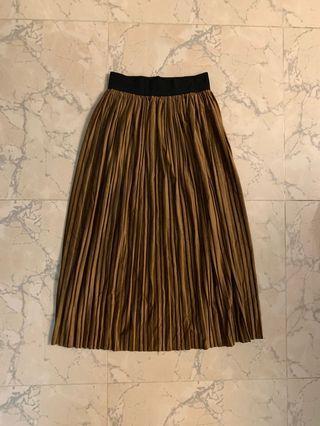 Brown pleated skirt 啡色百褶裙