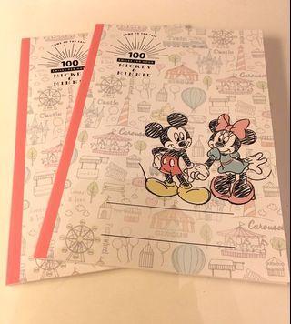 日版Mickey & Minnie單行簿兩本