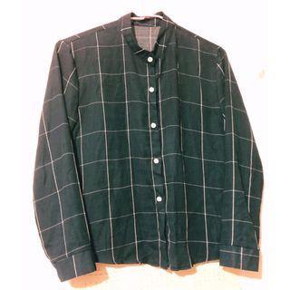 綠底格紋雪紡襯衫 Mercci22 Pazzo Soulsis Pimgo Wuzo #半價衣服拍賣會