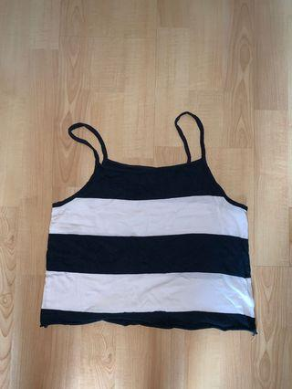 🚚 stripped cropped top