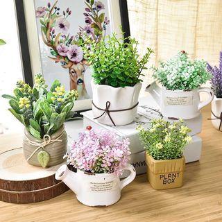 Artificial Plant - Retro Pot ☘️