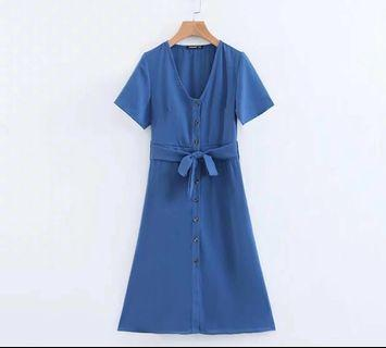 🌷(PO) Buttoned Practicality Shirt Dress