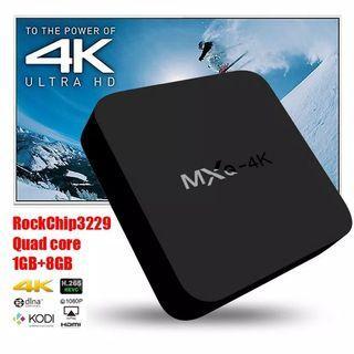 TV BOX ANDROID SMART MXQ 4K RK3229 1G/8G H.264/H.265