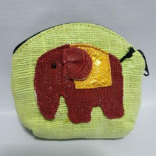 Dompet koin mini motif gajah/souvenir Bangkok/Thailand